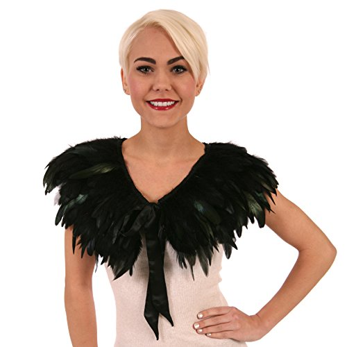 Zucker Feather Products Rooster Coque Feather Cape, Black Iridescent]()
