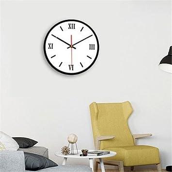 Moonya Reloj de Pared Simple Creativo Blanco y Negro Cuadro de Pared Mudo Redondo de acrílico Sala de Estar Digital Simple Tres Relojes de Pared (Shape ...