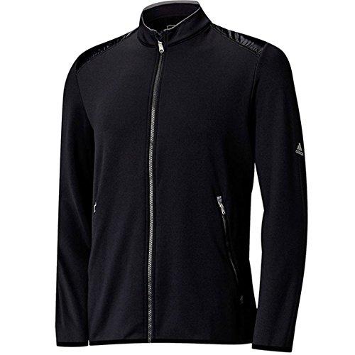 adidas Golf Men's Climaheat Full Zip Jacket, Black/Vista Grey, XX-Large