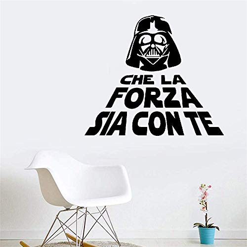 Dozili Vinyl Wall Decal Sticker Wall Art Quote Quote Che La Forza Sia Con Te for Toilet Wc Hose Home Decoration Gift Idea 12