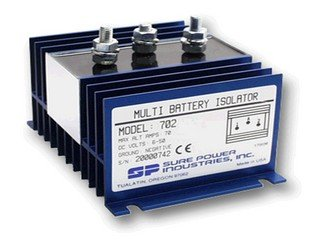 Bank Battery Isolator (Sure Power 702 Multi Battery Isolator 70A 1 Input 2 Battery)