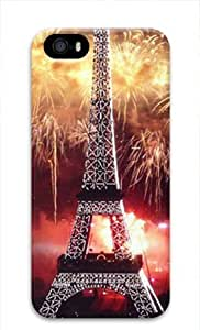 E-luckiycase PC Hard Shell Fireworks at Eiffel Tower for Iphone 5 5s 3D Case