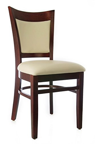 Beechwood Mountain BSD-117S-DM Solid Beech Wood Side Chairs in Dark Mahogany for Kitchen and dining, set of (Beechwood Fully Upholstered Chairs)