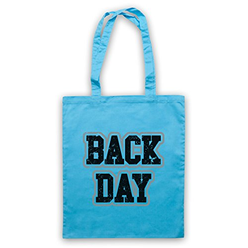 Slogan Bolso Bodybuilding Workout Day Azul Cielo Back CBqt0nxC