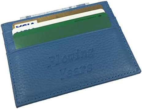 Flowing Years Slim Leather Wallet Credit Card Case Sleeve Card Holder