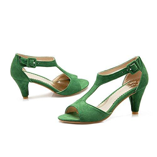 Cono Con Scarpe Verde Sandali Coolcept Tacco Donna Fibbia Casual Su tgnwXS