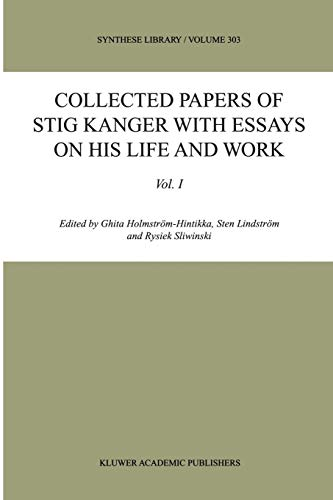 Collected Papers of Stig Kanger with Essays on his for sale  Delivered anywhere in Canada
