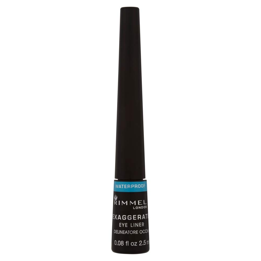 Rimmel London Exaggerate Waterproof Liquid Eyeliner, 2.5 ml, Black Coty 34788486003