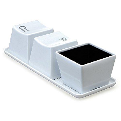Aliciashouse 3Pcs Creative Keyboard Teetasse Tastatur Ctrl Del Alt Cup Kaffeetasse -black