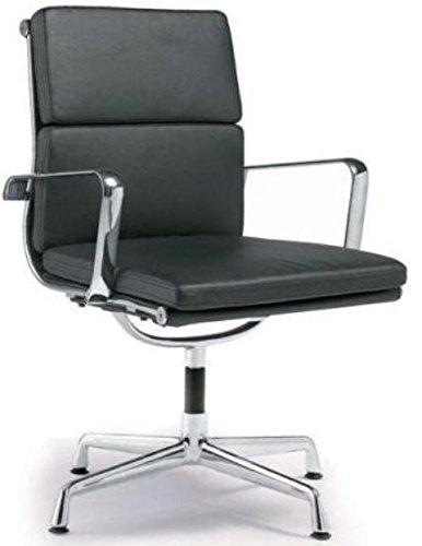 Director Soft Pad Office Chair With No Wheels - Black ()