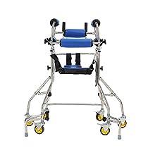 6 Wheels Walking Aid Elder Walker Old People Walking Stick Walking Rehabilitation Device Anti-Backward Rollover Shelf