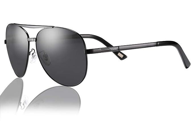 9da8296788b6 Carfia Polarized Sunglasses for Women   Men UV 400 Protection Lightweight  Comfort Design (Men