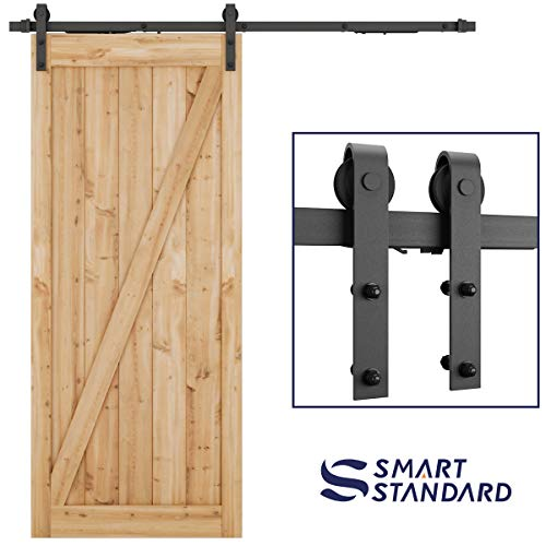 (6.6ft Soft Close Heavy Duty Sturdy Sliding Barn Door Hardware Kit - Smoothly and Quietly - Simple and Easy to Install - Includes Step-By-Step Installation Instruction -Fit 36''-40