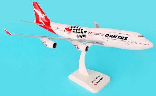 1: 200 ホーガンウィングス Qantas ボーイング 747-400 Grand Prix Colors, with Landing Gear (並行輸入)