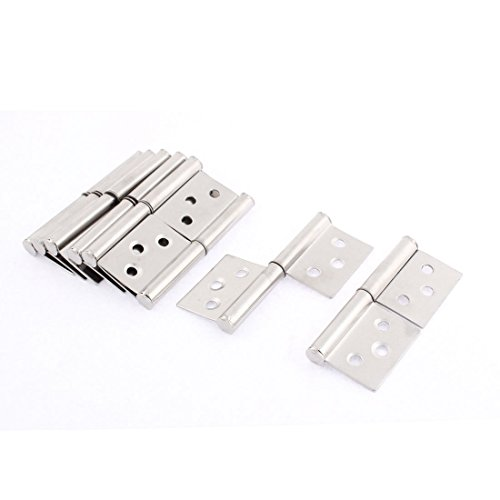 (uxcell Cupboard Door 360 Degree Rotating 3 Inch Long Flag Hinges 8 Pcs)