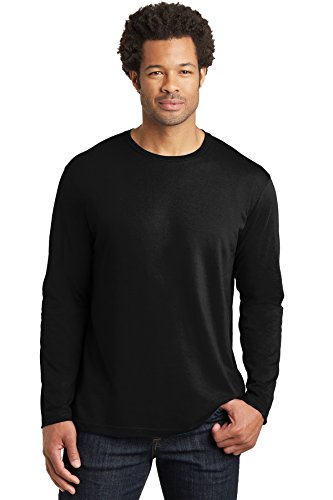 District Made Men's Perfect Weight Long Sleeve Tee XL Jet Black from District Made