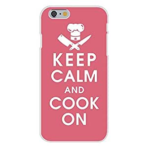 Hu Xiao Apple iPhone 6 Custom case cover White Plastic Snap On - Keep Calm and Cook OtGdTYL1ovQ On w/ Knives & Hat