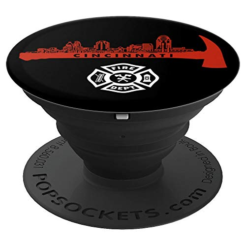 Cincinnati Ohio Fire Rescue Department Firefighters Duty PopSockets Grip and Stand for Phones and - Uniform Ohio