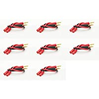 8 x Quantity of Helicopter Quadcopter Airplane Boat Car Controller HXT 3.5MM with Banana Plug Charge Lead Adapter 14AWG 200°C 250mm Wire Power Charger Connector Li-Po LiPo Plugs