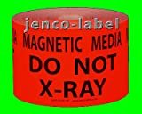 Jenco-Label DN3514R, 500 3x5 Do Not X-Ray, Magnetic Media Label