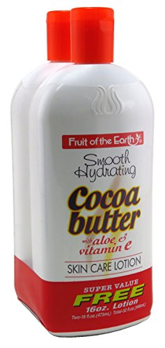 Fruit Of The Earth Bogo Lotion Cocoa Butter With Aloe & Vitamin-E 16 Ounce (473ml)
