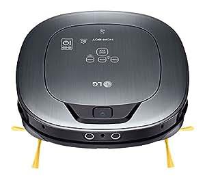 LG VSR9640PS Hombot Square Turbo Serie 12 - Robot aspirador, video vigilancia avanzada, color plata metalizado