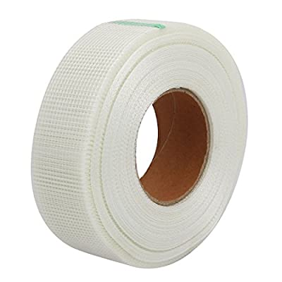 uxcell 50mm Width Self Adhesive Sheetrock Drywall Joint Mesh Tape Wall Repair Fabric
