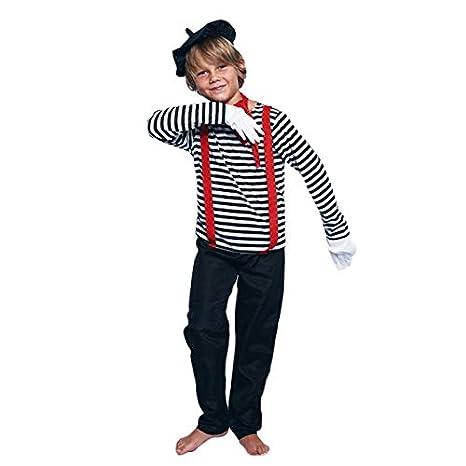 Disfraz Mimo Niño (10-12 años) (+ Tallas) Carnaval Profesiones ...