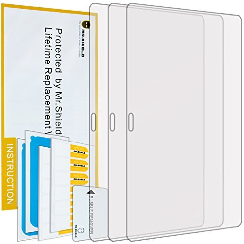 Mr Shield For Samsung Galaxy Tab S 10.5 10 inch Anti-glare Screen Protector [3-PACK] with Lifetime Replacement Warranty (Samsung 10 S Tablet Case)