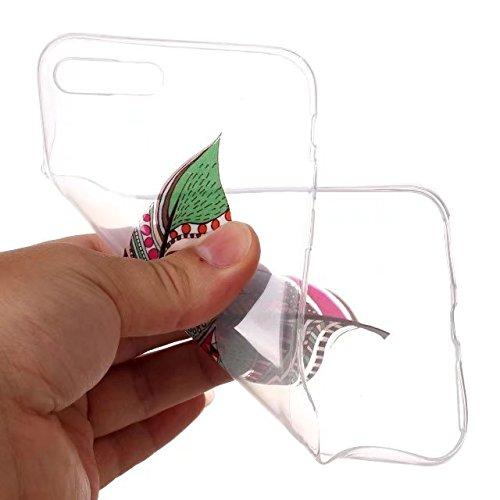 Case iPhone 7 Plus Funda iPhone 8 Plus Transparente Carcasa , Premium TPU Impresión Suave Ultra Slim / Resistente a los Arañazos Flexible Bumper Case Cover [Ultra-delgado] [Shock-Absorción] Protectora Árbol colorido