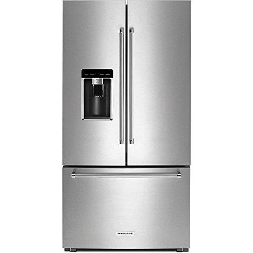 KitchenAid Stainless Steel Counter-Depth French Door - Kitchenaid Refrigerator Black
