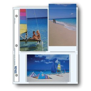 Printfile Archival Photo Album Pages for 6 4 x 6 Prints 100 Sheets - Printfile 466P100 by Print File