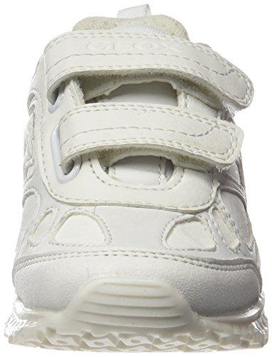 Geox J Bernie G, Zapatillas Para Niños Weiß (WHITEC1000)