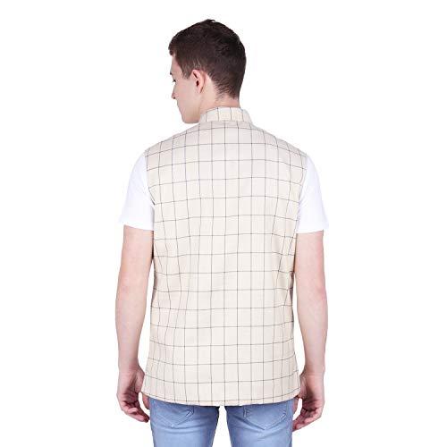 41lcyaCkZyL. SS500  - BIS Creations Men's Tweed Cotton Nehru Jacket - Waistcoat