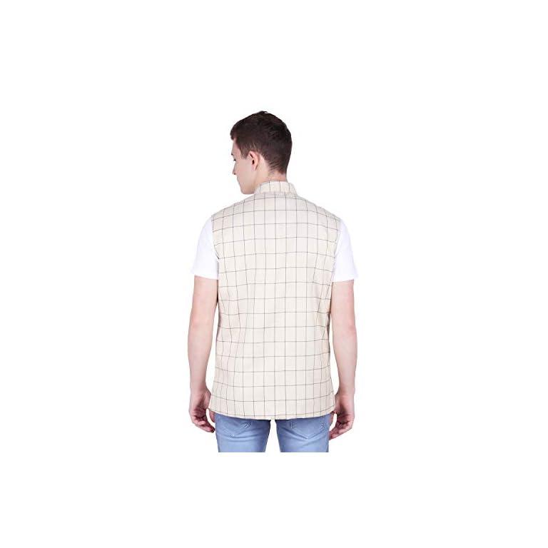 41lcyaCkZyL. SS768  - BIS Creations Men's Tweed Cotton Nehru Jacket - Waistcoat