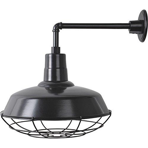Strongway Multi-Mount Warehouse Barn Light - 12in. Dia., Black, 100 Watts, Model# 23201096-BS