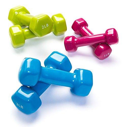 Black Mountain Products Vinyl Dumbbell Set Combo, 12lbs