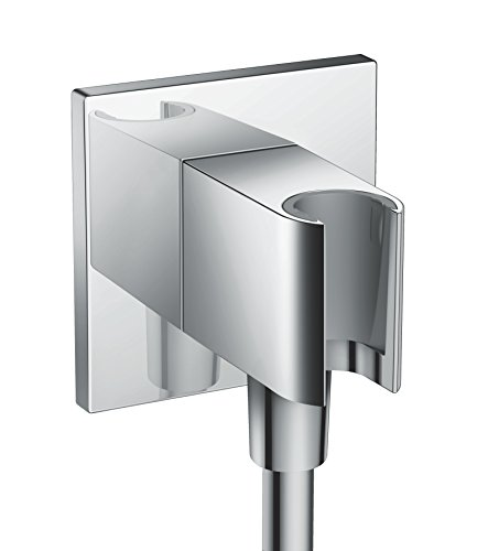 Hansgrohe Fixfit Porter Square Chrome Shower Head Holder 26486000 - Hansgrohe Porter E Holder