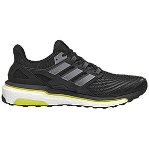 adidas Men's Energy Boost M Running Shoe, Core Black/Night Metallic/Vivid Yellow, 8 M US