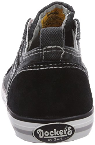 Dockers by Gerli 36VC601 - zapatilla deportiva de lona infantil negro - negro
