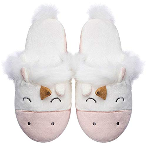 new Women Slippers Unicorn Cute House Slippers Ladies Pink Winter Girls Slippers