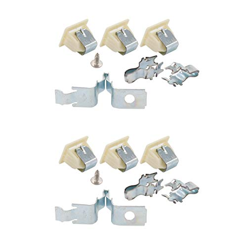 ApplianPar 279570 Dryer Door Latch Strike Kit for Whirlpool Kenmore Maytag KitchenAid Dryers AP3094183, PS334230, 279570 Pack of 2 Dryer Door Latch Kit