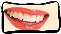 Rikki Knight Smiling Lips Design Neoprene Pencil Case (pc247)