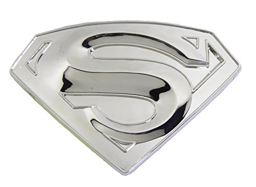 Superman S Logo Shield Silver Finishing Superhero Dc Comic Belt Buckle . (Superman Silver Shield)