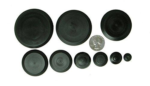 Assortment Metal (50 Piece Flush Mount Black Hole Plug Assortment for Auto Body and Sheet Metal)