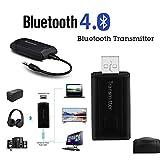 Bluetooth Transmitter Adapter, Elevin(TM) Wireless Bluetooth Transmitter Stereo Audio Music Adapter...