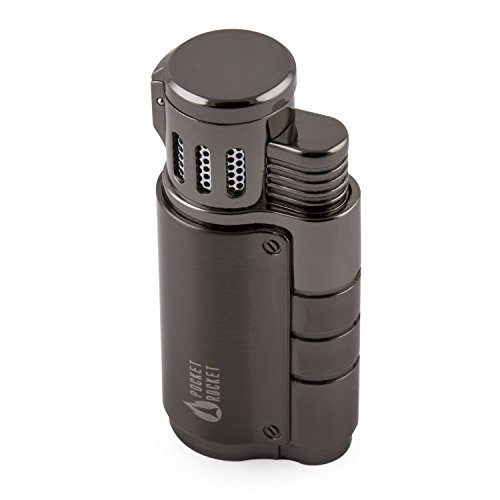 ple Flame Jet Cigarette Lighter with Cigar Punch (Out Cigar Punch)