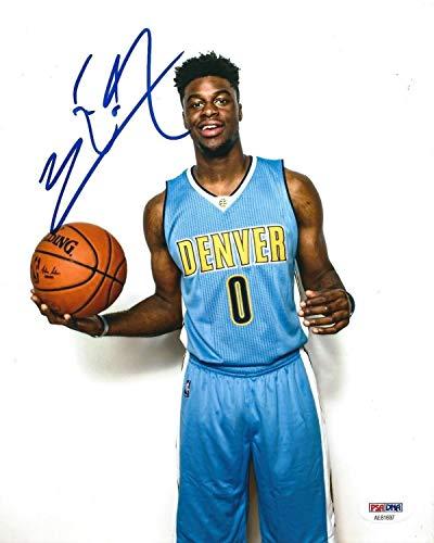 Emmanuel Mudiay Autographed Signed Memorabilia Denver Nuggets Basketball 8x10 Photo PSA/DNA Ae81697 ()