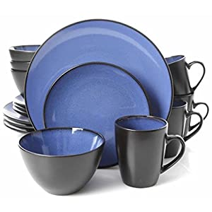 Gibson Home 16 Piece Reactive Stoneware Soho Round Dinnerware Set 41ld 2Byp3ciL