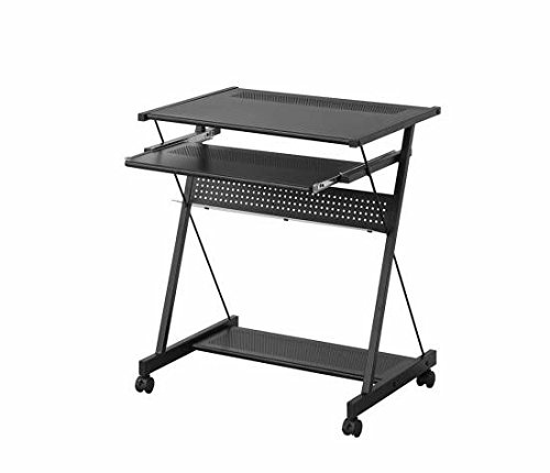 Coaster Contemporary Black Computer Desk with Keyboard Drawer and Casters by Coaster Home Furnishings